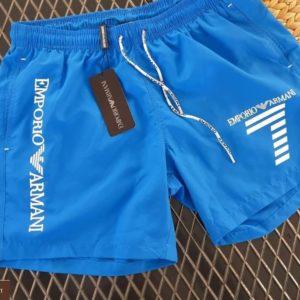 Купить синие мужские летние шорты Armani с подкладкой из сетки (размер 46-54) онлайн