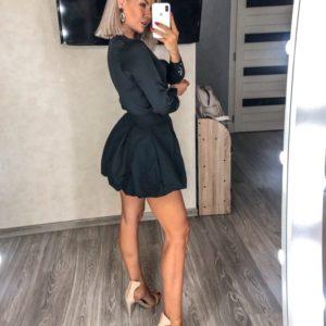 Купить женскую черную юбку тюльпан мини выгодно