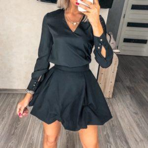 Приобрести черную юбку тюльпан длины мини для женщин по скидке