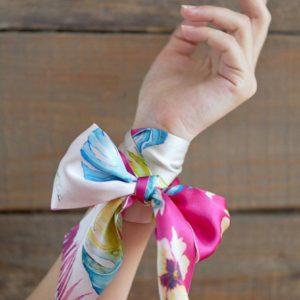 дизайнерский платок twilly на руку женский купить дешево в Украине