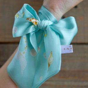 стильная голубая шелковая лента твилли женская дешево