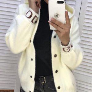 Заказать белого цвета женский Кардиган из шерсти альпака онлайн