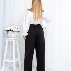 Замовити жіночу білу блузку-топ з відкритими плечима (розмір 42-54) в інтернеті