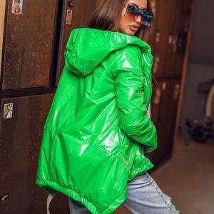 Купить салатовую женскую яркую куртку с лямками (размер 42-60) по низким ценам
