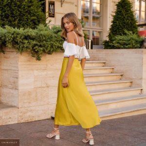 Приобрести белого цвета женский Топ с открытыми плечами на тонких бретельках онлайн