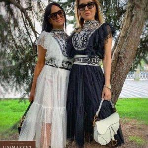 Придбати білу і чорну блузу з вишивкою в стилі етно в інтернеті для жінок