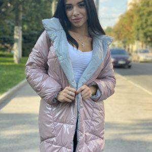 Приобрести цвета пудра для женщин двухстороннюю куртку на заклепках выгодно