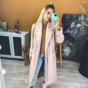 Приобрести цвета пудра кашемировое пальто на трикотажной основе с поясом для женщин онлайн