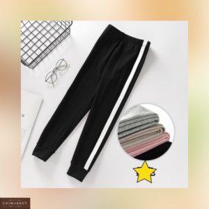Приобрести серые, черные, пудра, беж спортивные штаны с лампасами (размер 42-50) для женщин недорого