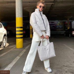 Заказать белую сумку для женщин шопер из эко-кожи онлайн