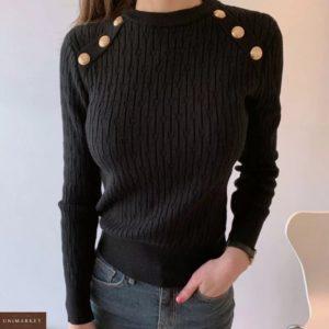 Заказать черный для женщин свитер машинной вязки с заклепками онлайн