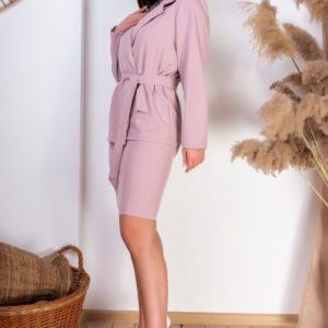 Приобрести пудра женский костюм в полоску: платье+пиджак (размер 42-54) недорого