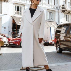 Заказать молочное длинное универсальное пальто для женщин оверсайз недорого
