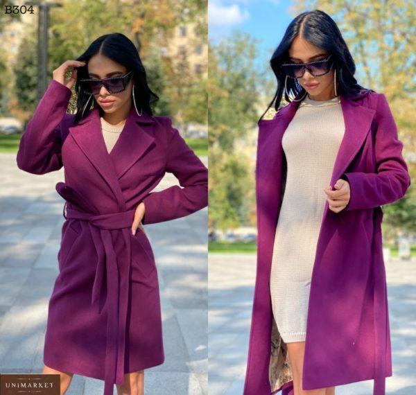 Заказать цвета слива классическое женское пальто из турецкого кашемира онлайн