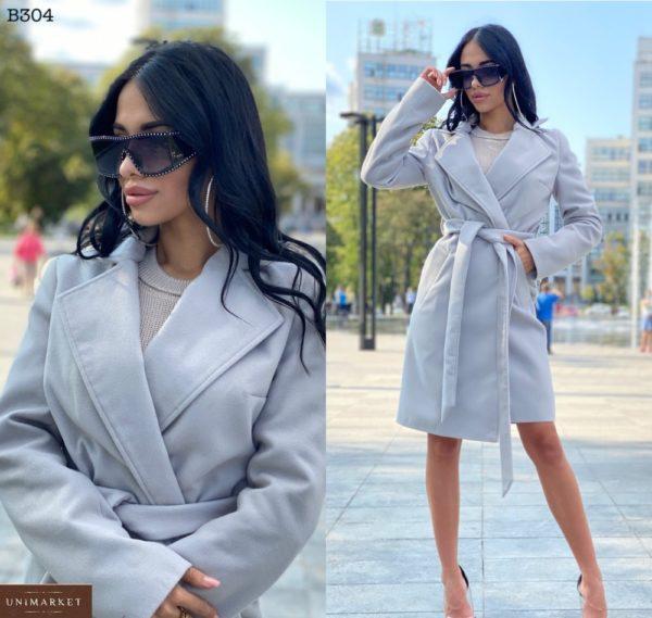 Приобрести серое классическое пальто из турецкого кашемира для женщин выгодно