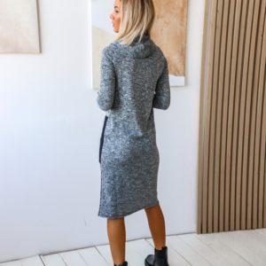 Заказать серое платье с карманами из турецкого трикотажа (размер 42-48) на распродаже женское