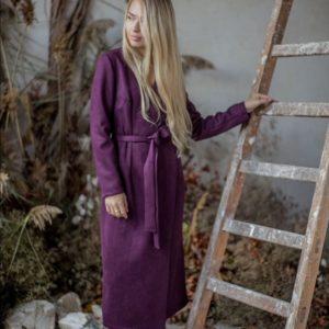 Приобрести цвета фиолет замшевое платье на запах с длинным рукавом недорого для женщин по низким ценам