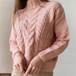 Заказать пудра женский свитер из кашемира со спущенной линией плеча недорого