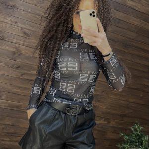 Замовити гольф чорний сіточку Givenchy для жінок в інтернеті