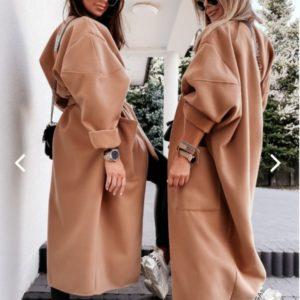 Заказать беж Пальто-одеяло oversize из кашемира для женщин на осень по скидке