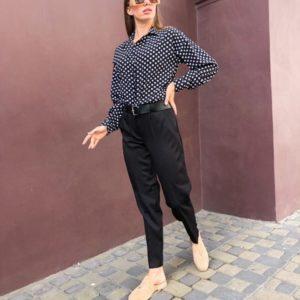Приобрести черные зауженные брюки со стрелкой для женщин по низким ценам