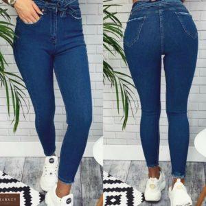 Заказать онлайн женские синие Джинсы скинни с джинсовым поясом