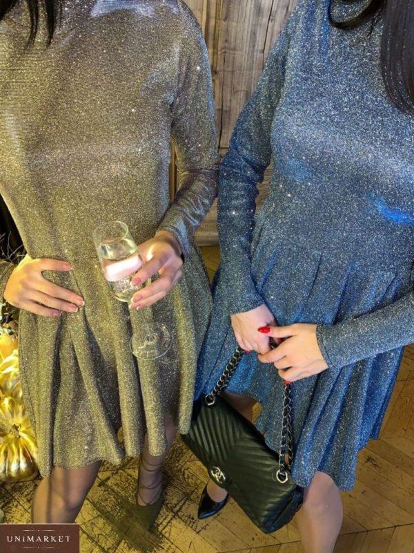 Купить комбинезон женский платье необычного кроя серебро, золото по низким ценам