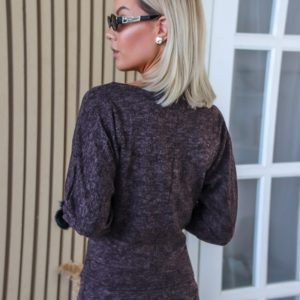 Приобрести костюм для женщин из ангоры софт: завышенная юбка+джемпер цвета кора дуба (размер 42-56) по скидке