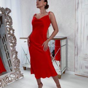 Придбати червоного кольору жіноче плаття-комбінація на бретельках онлайн
