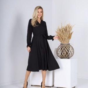 Придбати жіночу чорну сукню А-силуету (розмір 42-54) в інтернеті