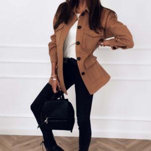 Приобрести цвета кэмел женскую замшевую рубашку оверсайз с карманами в интернете
