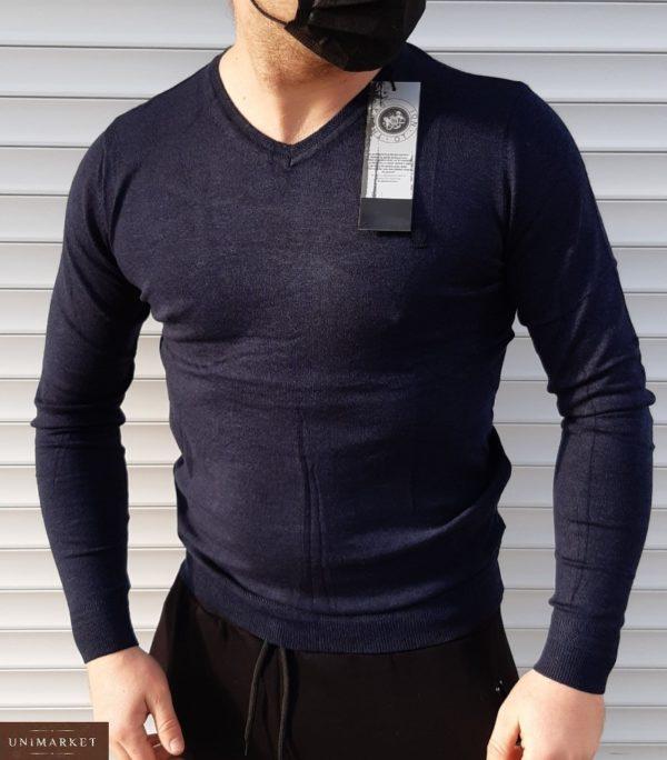 Заказать черного цвета Мягкий свитер из микроакрила (размер 46-52) для мужчин недорого