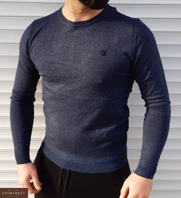 Приобрести синего цвета по низким ценам Мягкий свитер из микроакрила (размер 46-52) для мужчин