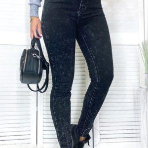Купить темно-серые мраморные джинсы американка для женщине по скидке