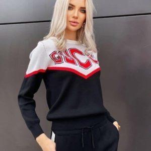Купить вязаный спортивный черного цвета костюм Gucci для женщин выгодно