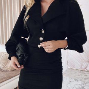 Заказать черный замшевый женский костюм в стиле zara с юбкой онлайн