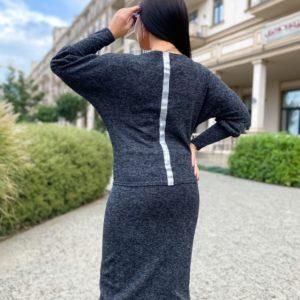 Купить женский графит костюм: юбка+джемпер из ангоры софт (размер 42-56) недорого