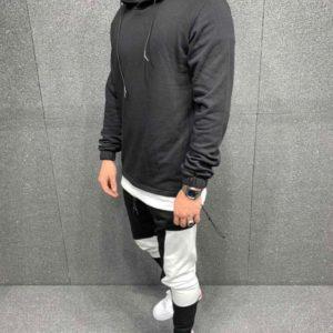 Приобрести мужской черный спортивный костюм с начесом с худи (размер 46-52) по низким ценам