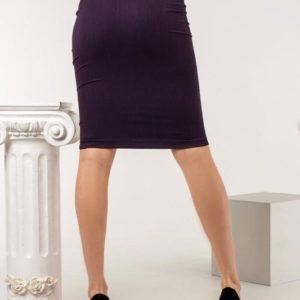 Заказать цвета фиолет завышенную юбку со змейкой спереди (размер 42-52) для женщин в интернете