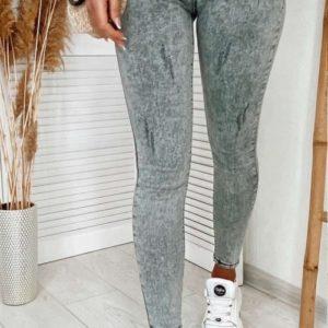 Заказать серые стрейчевые женские джинсы скинни на средней посадке онлайн