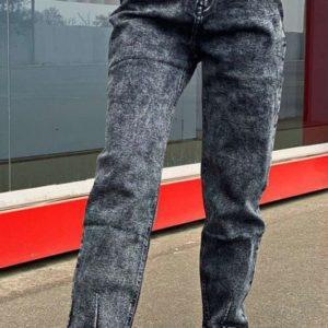 Заказать серые стрейчевые джинсы-слоучи варенки для женщин онлайн