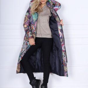 Приобрести женскую теплую куртку разных цветов на молнии с поясом-резинкой (размер 42-48) онлайн