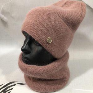 Заказать мокко женский набор из ангоры с шерстью: шапка+шарф выгодно