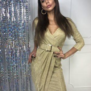 Заказать желтое недорого платье в пол из люрекса хамелеон в интернете для женщин