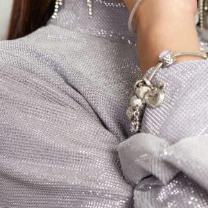 Купити жіноче сріблясте плаття з віскози з люрексовой ниткою (розмір 42-48) онлайн