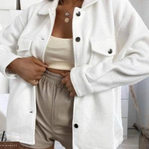 Заказать белую рубашку из плотного турецкого кашемира для женщин недорого