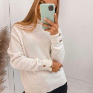 Приобрести выгодно белый Кашемировый свитер под шею для женщин