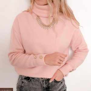 Заказать пудра женский Кашемировый свитер под шею по низким ценам