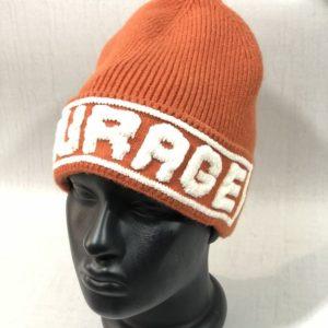 Купить оранжевую женскую. шерстяную шапку Garage по скидке