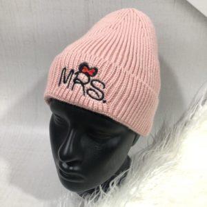 Заказать пудра шапку женскую Mickey с надписью Mrs недорого